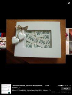 Ako darovat peniaze :) Place Cards, Place Card Holders, Handmade, Money, Presents, Hand Made, Craft, Handarbeit