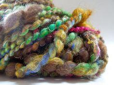 Faerie Glade Handspun Art Yarn Coily Ply by RainbowTwistShop, $39.75
