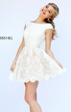 Beaded Mini Dress by Sherri Hill 32257 Sexy Dresses, Cute Dresses, Evening Dresses, Short Dresses, Prom Dress Shopping, Online Dress Shopping, Sherri Hill, Quinceanera Dresses, Homecoming Dresses