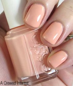 just had my nails painted in Essie A Crewed Interest. it's peachy nude. love it.