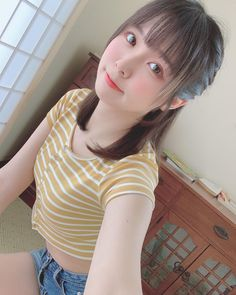 Image may contain: one or more people, stripes and closeup Beautiful Japanese Girl, The Most Beautiful Girl, Beautiful Asian Girls, Cute Little Girl Dresses, Cute Little Girls, Stylish Girls Photos, Girl Photos, Japonese Girl, Petty Girl