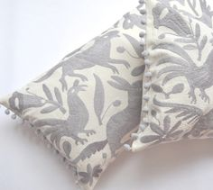 OTOMI PILLOW COVER - PALE GREY