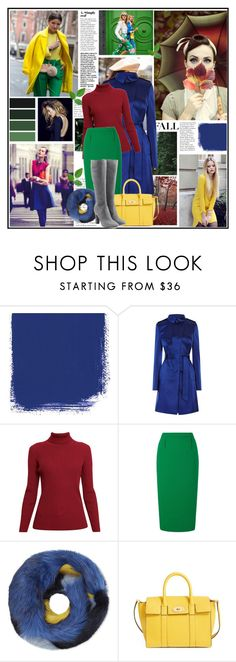 """""""Color Combination: Bice Green/Royal Blue/Wine Red"""" by aurorafashions ❤ liked on Polyvore featuring Karen Millen, Rumour London, Roland Mouret, Bandits, Mulberry and L'Autre Chose"""