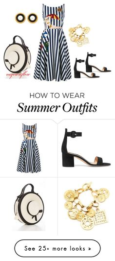 """Collection Of Summer Styles    """"OLD TIME DAY"""" by myownflow on Polyvore featuring Dolce&Gabbana, Gianvito Rossi and Chanel    - #Outfits  https://fashioninspire.net/fashion/outfits/summer-outfits-old-time-day-by-myownflow-on-polyvore-featuring-dolcegabbana-gianvito-rossi/"""