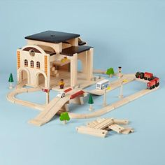 I really don't think he has enough trains. This might help, but then again his addiction rivals a women and her shoes.