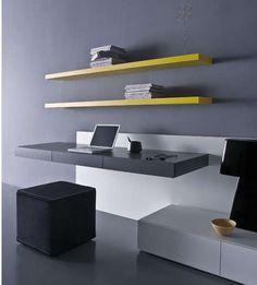 Modern, floating desk