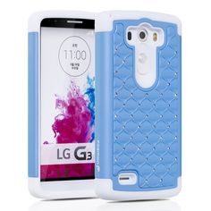Fosmon LgG3 case teal/white diamonds