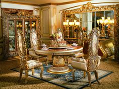 homey design hd-13012 victorian inspired luxury formal dining room