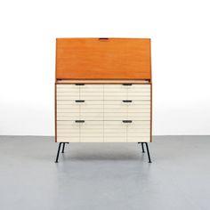 Secretary Cabinet for Mengel, 1950s Furniture, Furniture Styles, Upcycled Furniture, Furniture Design, Fold Down Desk, Mid-century Modern, Modern Design, Secretary Desks, Life Design