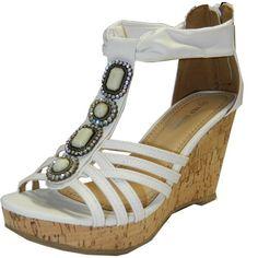 12512ac1891f2 Top Moda Women s Ds-6 Wedge Sandals