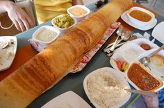 Paper Dosa, u have to share it! Mumbai Street Food, Indian Food Recipes, Ethnic Recipes, South Indian Food, Incredible India, Nepal, Breakfast Recipes, Globe, Food Ideas