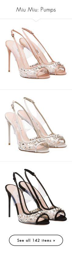 """""""Miu Miu: Pumps"""" by livnd ❤ liked on Polyvore featuring shoes, miumiu, livndshoes, livndmiumiu, pumps, heels, peep toe shoes, open toe slingback pumps, open toe slingback and open toe pumps"""