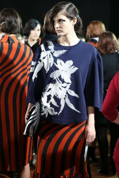 Backstage at Dries Van Noten RTW Fall 2014 [Photo by Delphine Achard]