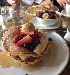 Breakfast pancakes on We Heart It