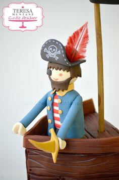 Tarta barco pirata playmobil - Playmobil pirate ship cake - www.teresamuntane.com - Teresa Muntané Cake Designer