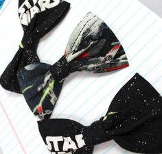 Star Wars Bow Tie Death Star Tie Fighters Geek by GeekestLink, $25.00