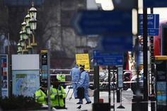 Five dead, around 40 injured in UK parliament 'terrorist' attack  -  March 22, 2017:    Police investigators seen on Westminster Bridge on March 22, 2017 in London, England. A police officer was stabbed near to the British Parliament and the alleged assailant shot by armed police. Scotland Yard also reported an incident on Westminster Bridge where one woman has been killed and several people seriously injured by a car.