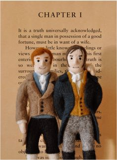 Mr Darcy and Mr Bingley in needlefelt!..♔....