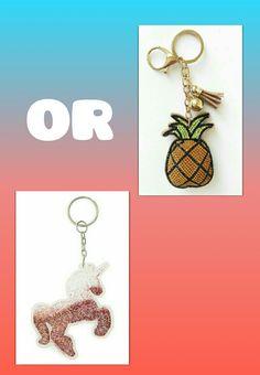 Pinneapple  or unicorn keychain??