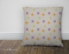 Pinwheel Throw Pillow from Let's Go Fly a Kite by MotifMotifShop