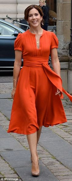 Danish Crown Princess Mary is voted 'most stylish royal' yet again   A museum visit in 2012