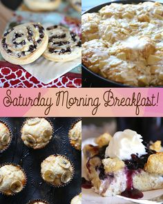 Great ideas for Saturday Morning Breakfast!!