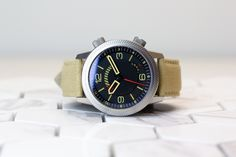 The Draken Kalahari - our military field watch with a few unique features, including a central power reserve disk.  #drakenwatches #adventuregear #militarygear #wornandwound #microbrand #militarywatch #watchuseek #desertstorm #tactical #wristporn #kalahari #toolwatch #wristtime #automaticwatch #timepiece #watch #watches #watchlover