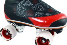 Details About Speed Roller Skates Riedell 395 Boot Quad