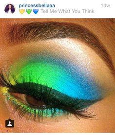 Neon eyeshadow.