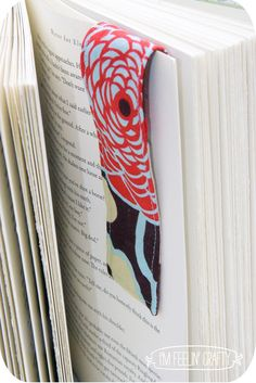 magnetic bookmark - scrap project  make own sew in magnet - enclose magnet in a thick ziplock and seal edges w heat