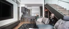 High ceiling duplex apartment in the heart of Penang by Vault Design Lab - CAANdesign | Architecture and home design blog
