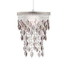 best website 26e89 3b731 Wilko Jewel Leaf Chandelier Ceiling Light Fitting Amber Liv ...