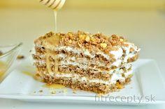 fit medový koláč - My site Healthy Baking, Healthy Desserts, Raw Food Recipes, My Recipes, Low Carb Recipes, Sweet Recipes, Cookie Recipes, Dessert Recipes, Slovak Recipes