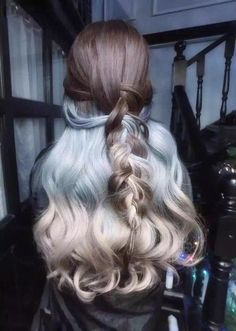 Pastel Light Blue And Ashy Blonde