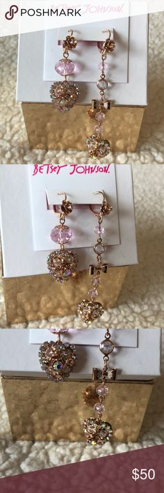 "❤️NWT! BETSEY JOHNSON HEART & ROSE EARRINGS BRAND NEW! AUTHENTIC BETSEY JOHNSON MISMATCH HEART & ROSE EARRINGS-The earring on the left is approximately 2"" in length, & the earring on the right is approximately 3 1/2"" in length.... Betsey Johnson Jewelry Earrings"
