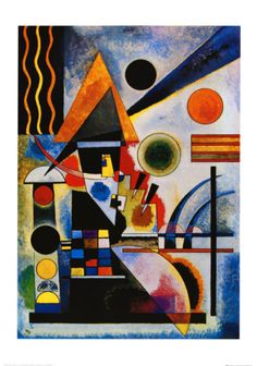 Tate Wassily Kandinsky (not Paul Klee!) was the longest serving teacher at the Bauhaus! Wassily Kandinsky, Kunst Poster, Art Plastique, Love Art, Abstract Expressionism, Art Lessons, Art History, History Class, Modern History