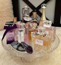 My perfume collection. #dior #ysl #lanvin #calvinklein #verawang #balmain #chanel #isseymiyake #organize #perfumes #display #fragrance