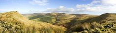 Kinder Scout Panorama  - Kinder Scout between Mount Famine and South Head - Rob Sutherland