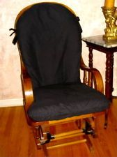 Bon SlipCovers For Glider Rocking Chair Cushions  Black Cotton Blend Or Your  Choice