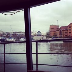Lunch on a boat.