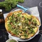 Grönkålspizza med sidfläsk