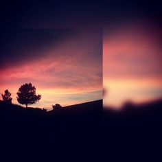 Pôr-do-sol.