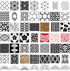 japanease-geometric-patterns  Will I ever be satisfied with my efforts?  vectorilla.com