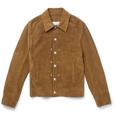 Inspired by a classic American style, Maison Margiela's western jacket expresses ruggedness in a sophisticated and luxurious way. It's been expertly crafted in Italy from soft suede and is lined in cotton for a comfortable fit. The rich camel hue will ensure it's one of the most versatile items in your wardrobe, while the cool silver studs give it a subtle point of difference.
