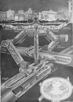 More Amazing Cutaways Of London Underground Stations London Underground Train, London Underground Stations, Underground Cities, Piccadilly Circus, Engineering Works, Civil Engineering, Chiswick Park, London Overground, Trains