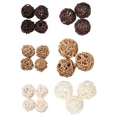 Decorating can be as simple as adding a couple of vine balls in warm natural colors. They come in white brown and natural and in 2 assorted sizes. Also the smaller balls come in a 4-ct. pack while the larger balls come in a 3-ct. pack. Add them to table centerpieces, mantle decor, bowls in hotel or office lobbies, and much more. Dollar Tree Finds, Dollar Tree Store, Dollar Stores, Vases Decor, Table Centerpieces, Viking Wedding, Vase Fillers, Floral Supplies, Bird Toys