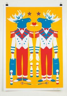 Affiche à Jouer - 7 differencesSérigraphie 3 couleurs sur papier offset 150 g Édition limitée à 100 ex 50x70cm - numérotée et signée. 45€ http://eshop.sergeantpaper.com/fr/serigraphie/1807-affiches-a-jouer-7-differences.html