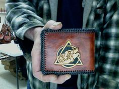 Wallet / Leather / Celtic / Wolf / Hand Carved and Tooled / Tribal / Mens Leather Wallet