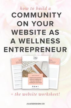 How to build a community on your website as a wellness entrepreneur + the website worksheet! One of the best ways to increase your visibility is to create quality content that positions you as an expert in your field. A blog allows people to understand your business better by acting as a nice introduction to who you are and what you do. #BlogMarketingIdeas