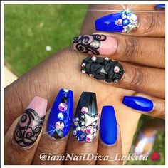 Birthday Set  NOW BOOKING! Contact my assistant or book online. Deposit required for all new clients  #nails #nailart #nailartist #nowbooking #nailtechatl #nails2inspire #nailsbylakita #atlanta #atlnails #atlantanails #bookme #booknow #BossNails #ShowMeTheMani #swarovski #celebritynailsatl #celebritynailtech